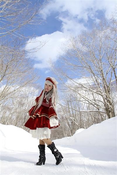 雪と青空でも気温はマイナスww