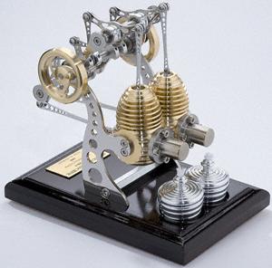 2気筒スターリングエンジン