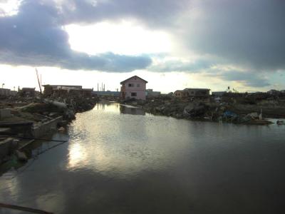 石巻の住宅街