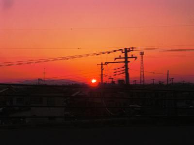 東松島の夕日