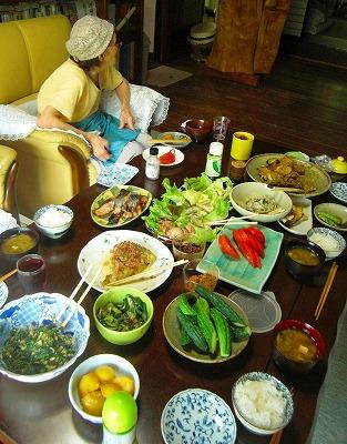 仙人野菜の朝食