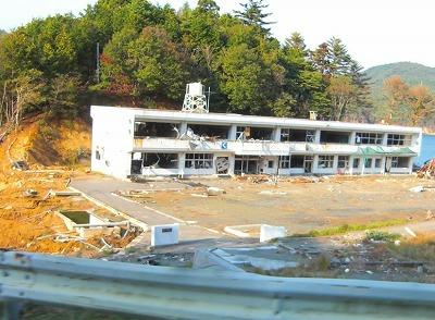 被災した小学校