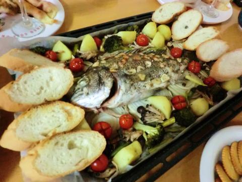 鯛と野菜のオーブン焼き