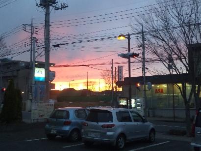 水戸市 けやき台近郊 夕日