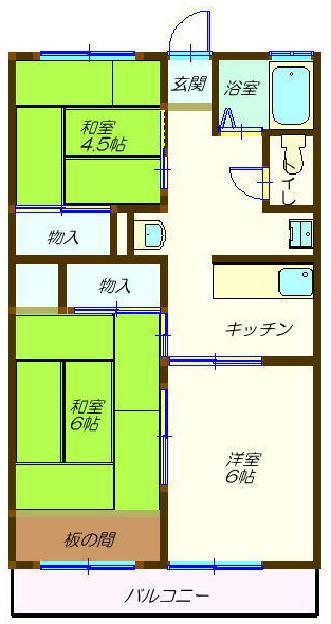 水戸市 元吉田町 水戸 賃貸 アパート 間取図