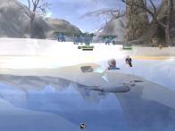 雪の露天風呂w