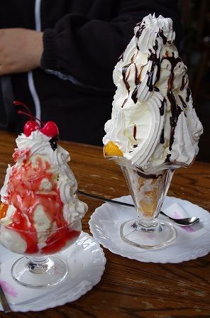 アメリカンレストラン プれンティのチョコパフェ、アイスクリーム