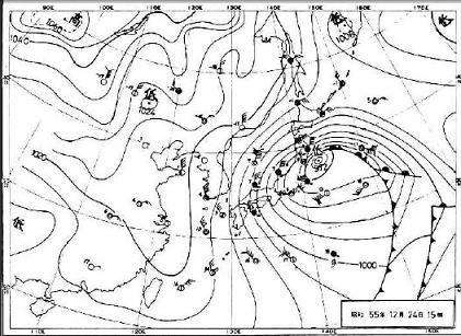 1980年12月24日 天気図