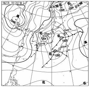 天気図 20100112-21