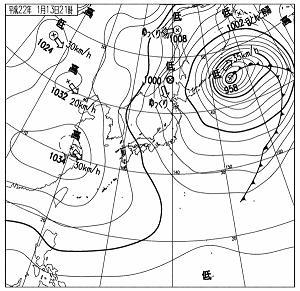 天気図 20100113-21