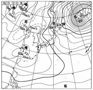 天気図 20100114-09