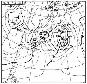 天気図 20100113-03