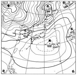 天気図 2010年1月20日 9時