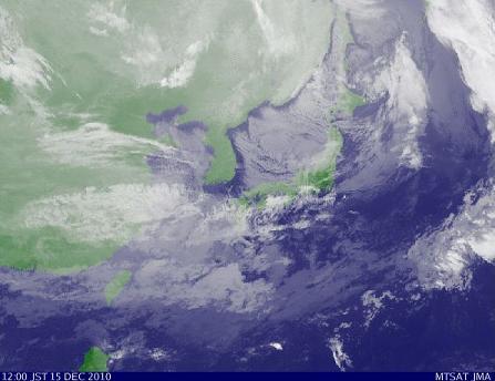 気象衛星 2010年12月15日12時