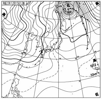 天気図 10121512