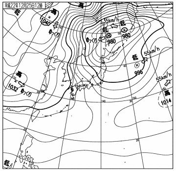 天気図 10122512