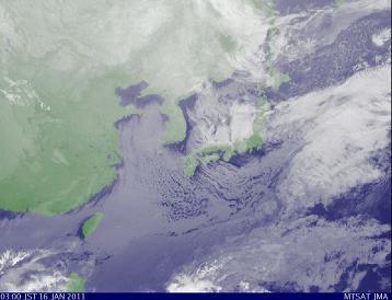 気象衛星 2011年1月16日午前3時