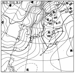 天気図 11011603