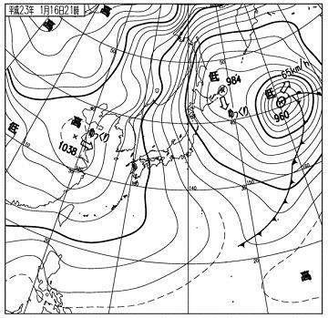 天気図 11011621
