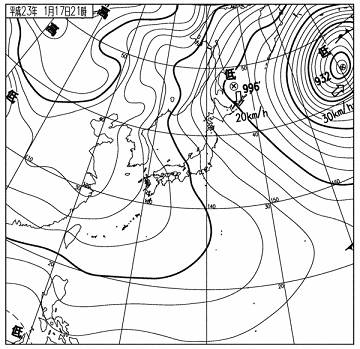 天気図 11011721