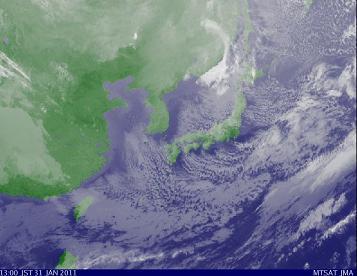 気象衛星2011年1月31日13時