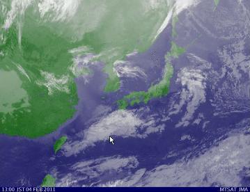 気象衛星2011年2月04日13時