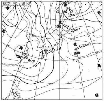 天気図 11013112