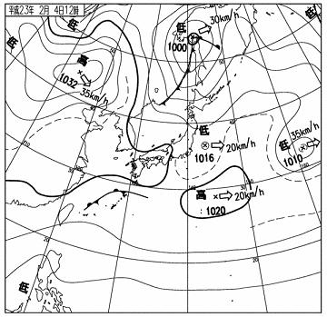天気図 11020412