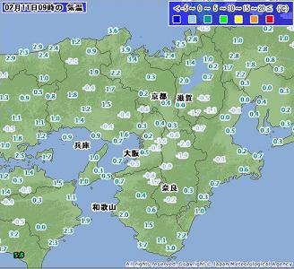気温 2011年2月11日09時
