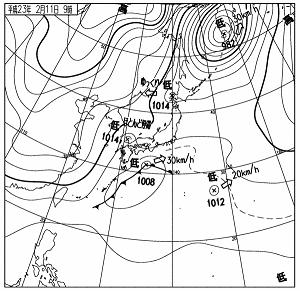 天気図 11021109c