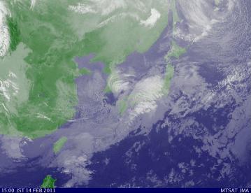 気象衛星 2011年2月14日15時