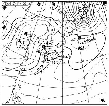天気図 11021415c