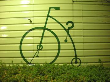 自転車置き場の印