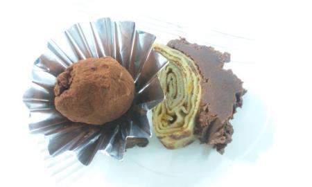トリュフとチョコレートのブシェ