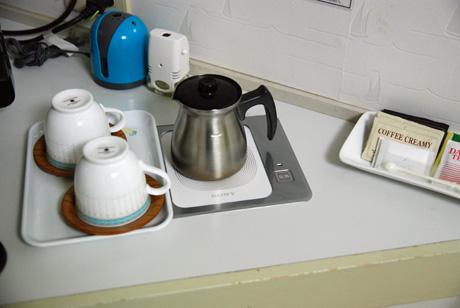 部屋にもコーヒーが