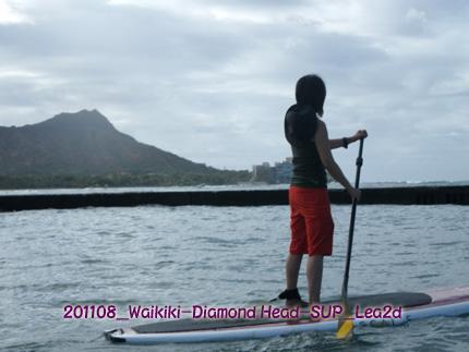 2011年8月 Waikiki(Diamond Head)でSUP