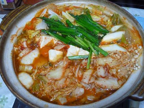 キムチ豆腐チゲ鍋