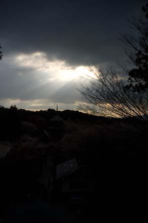 吉野山夕日