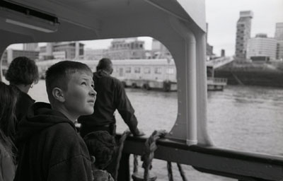 Kid on the Mersey Ferry
