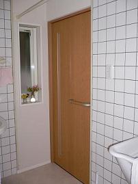 洗面室完成ドア