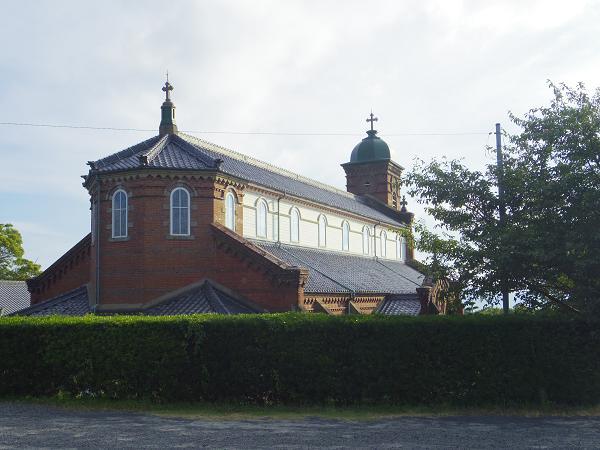 田平天主堂と土谷の棚田1