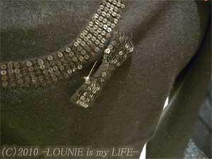 LOUNIE(ルーニィ)通販:LOUNIE(ルーニィ)2009冬物ヨンアさん着用スパンコール付きニットアンサンブル(クロ)