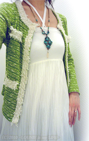LOUNIE(ルーニィ)通販:LOUNIE(ルーニィ)2010春夏物★ルーニィの大人気4WAYスカートに新色入荷!^^&夏物の展示会で大人気だったターコイズネックレスも、入荷!♪