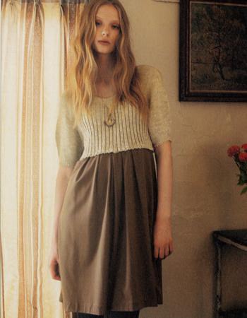 LOUNIE(ルーニィ)通販:Stola.(ストラ)2009秋物:公式カタログ掲載のワンピースはすごくかわいいモデルさん!