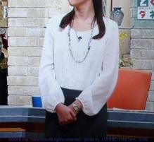 LOUNIE(ルーニィ)通販:ルーニィ2009秋冬物:とくダネ!で中野美奈子アナ着用のLOUNIE'09冬物ポリエステルサテンドッキングワンピース