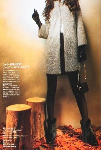 LOUNIE(ルーニィ)通販: Oggi(オッジ)12月号掲載◆ヨンア着用♪LOUNIE(ルーニィ)2009冬物ポリエステルサテンドッキングワンピース(オフ×グレー)
