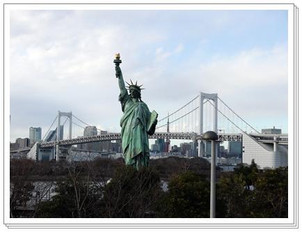 自由の女神&レインボーブリッジ