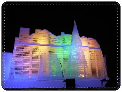 雪祭りの氷の建物