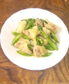 鶏肉とアスパラの中華風塩炒め9