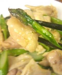 鶏肉とアスパラの中華風塩炒め11